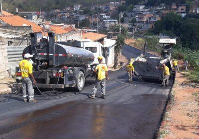 Empav realiza serviços de pavimentação no Parque das Águas