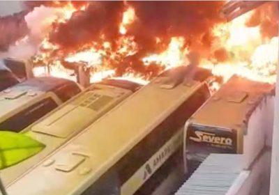 Concorrente é suspeito de planejar incendio em empresa de ônibus em MG